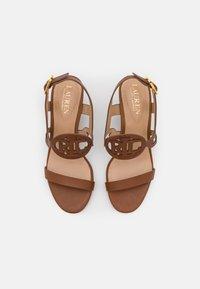 Lauren Ralph Lauren - AMILEA - Wedge sandals - deep saddle tan - 4