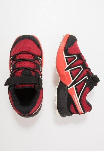 SPEEDCROSS BUNGEE - Hiking shoes - red dahlia/cherry tomato/vanilla ice