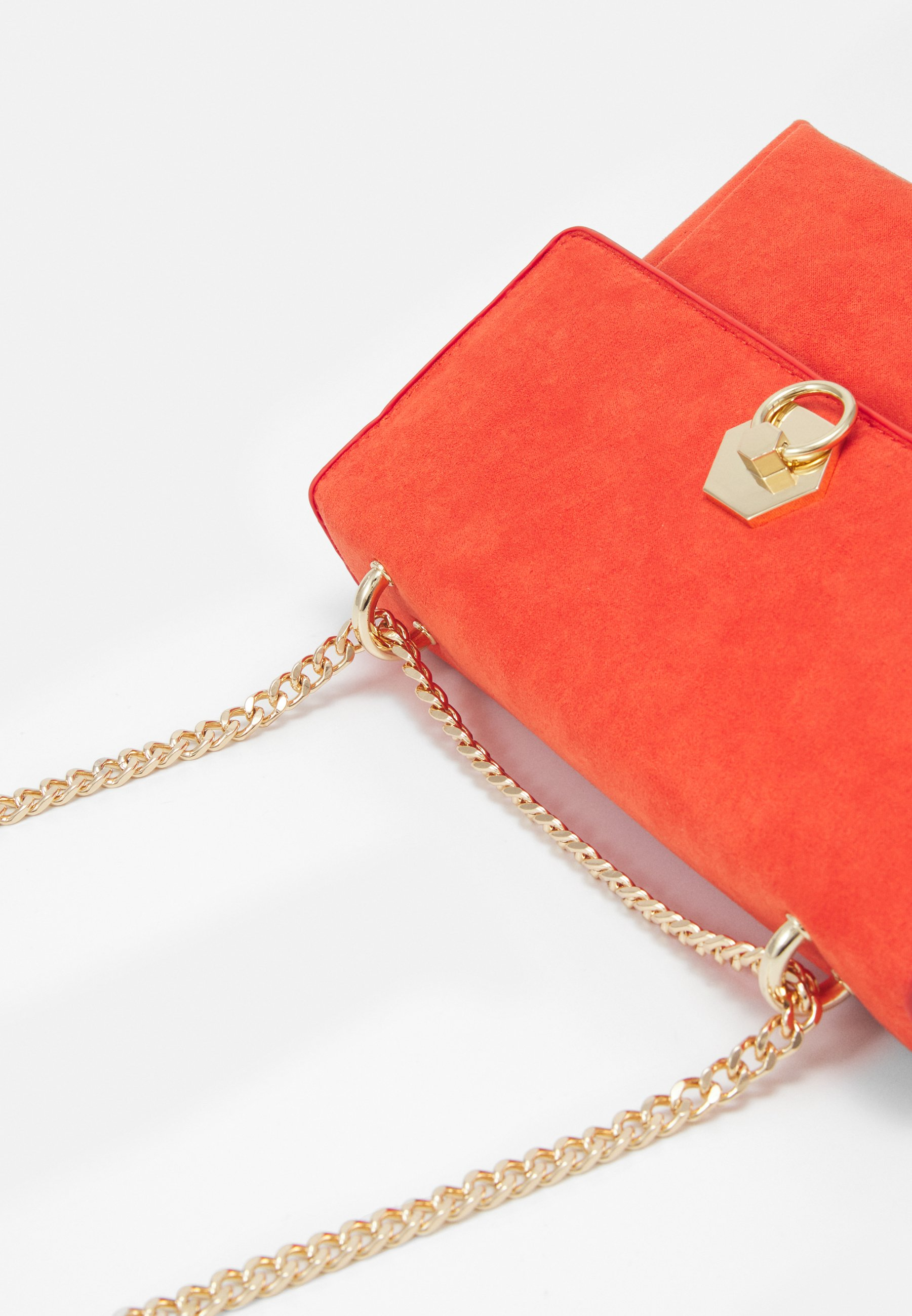 Dorothy Perkins HEXAGON LOCK SHOULDER - Skulderveske - orange/oransje KvOOgT6ngDTYgbK