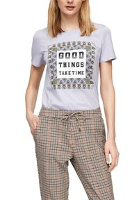 s.Oliver - MIT FOTOPRINT COLLAGE - T-shirt print - lilac good things print - 5