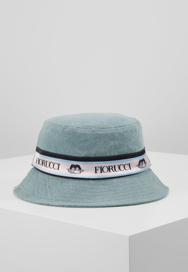 TAPE BUCKET HAT - Cappello - light blue denim