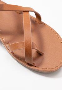 ONLY SHOES - ONLMANDALA CROSSOVER  - T-bar sandals - cognac - 2