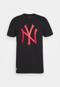 New Era - MLB NEW YORK YANKEES SEASONAL TEAM LOGO TEE - Klubové oblečení - black - 3