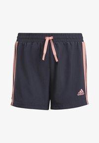 adidas Performance - ADIDAS DESIGNED TO MOVE 3-STRIPES SHORTS - Sports shorts - blue - 0