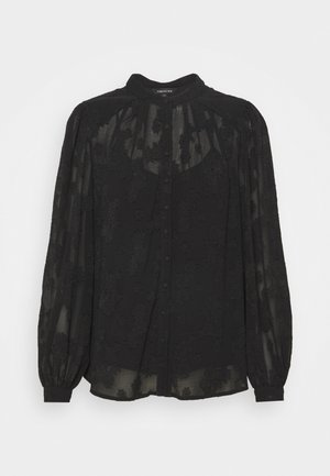 BRIELLE BURNOUT BLOUSE - Camicia - black