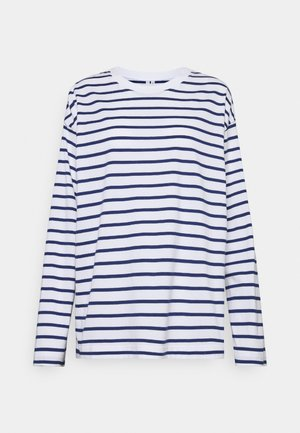 JERSEY LONG SLEEVE - Long sleeved top - white/blue
