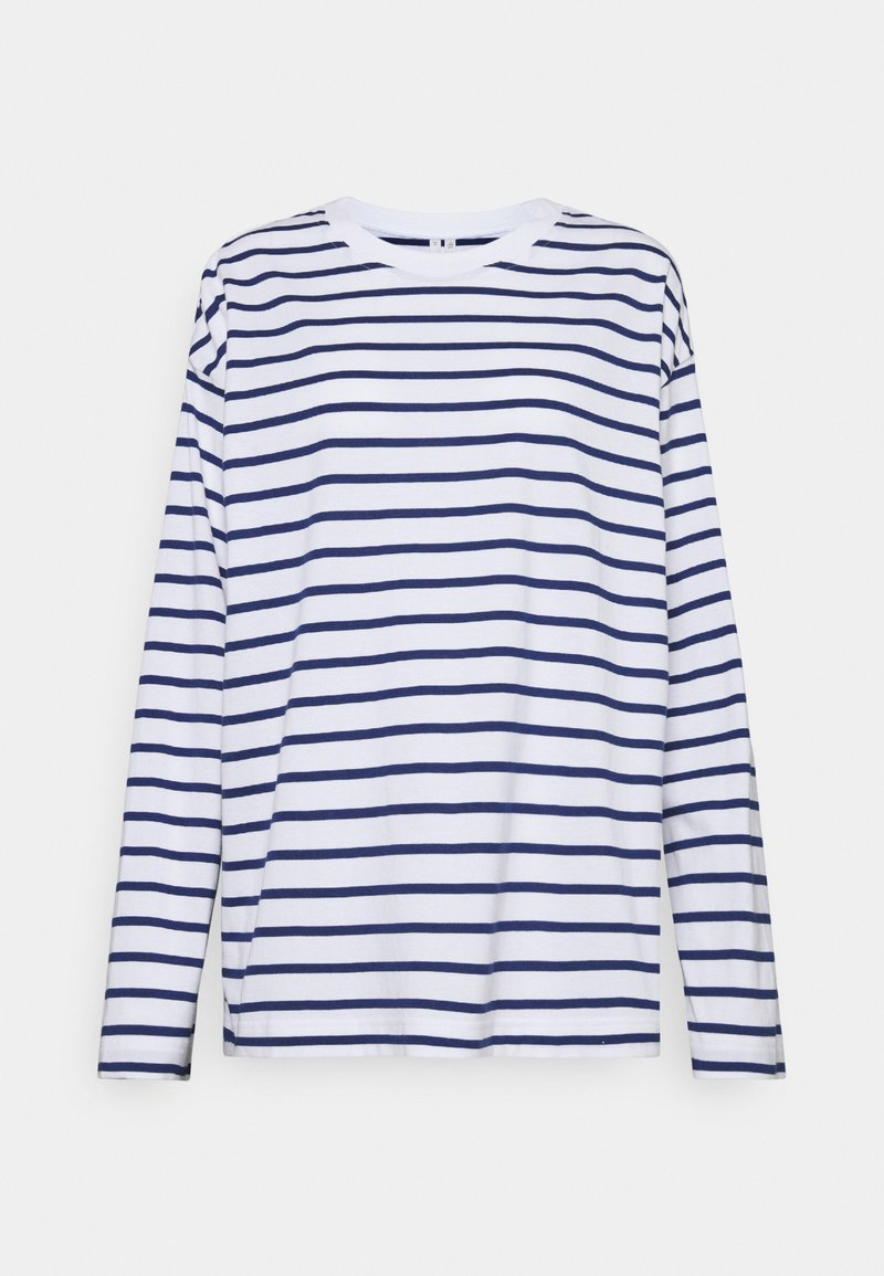 ARKET - Camiseta de manga larga - white/blue