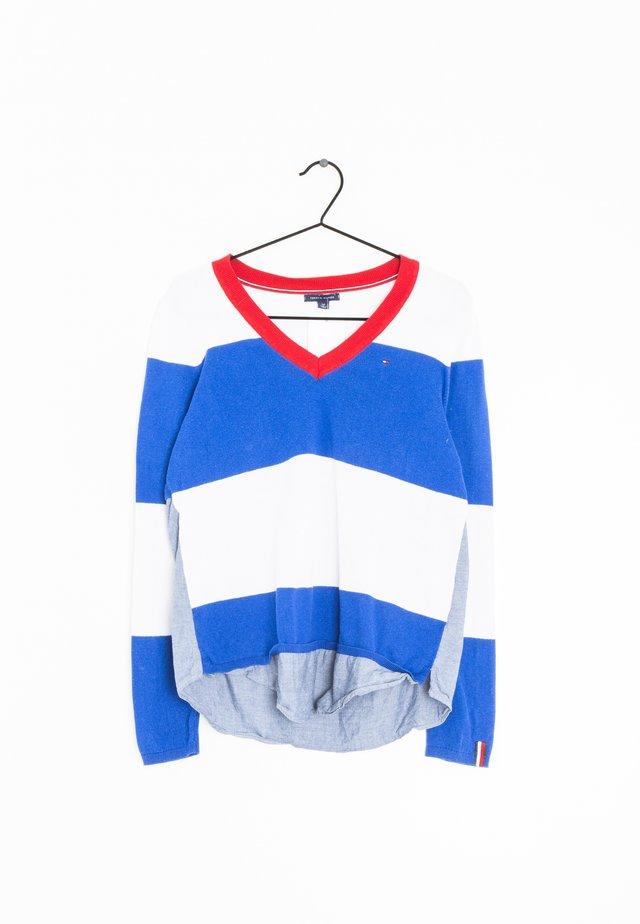 Trui - blue/white