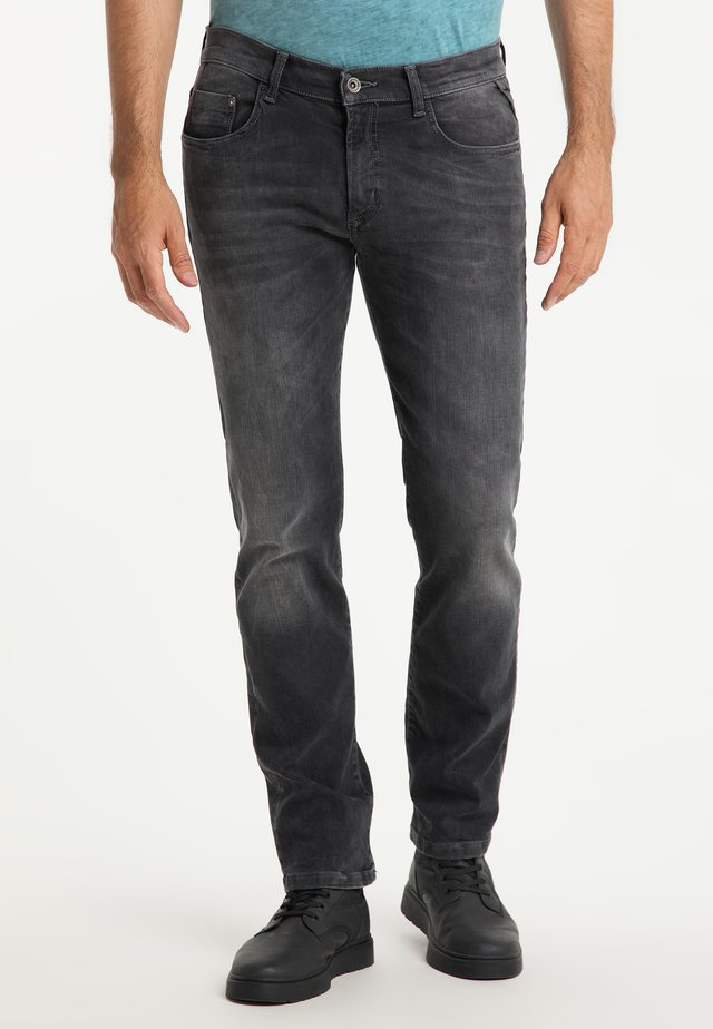 ERIC MEGAFLEX - Straight leg jeans - black used
