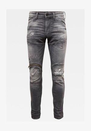5620 3D ZIP KNEE SKINNY ORIGINALS VINTAGE RIPPED BASALT MEN - Jeans Skinny Fit - vintage ripped basalt