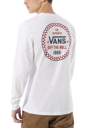 MN CHECKER 66 LS - Bluzka z długim rękawem - white