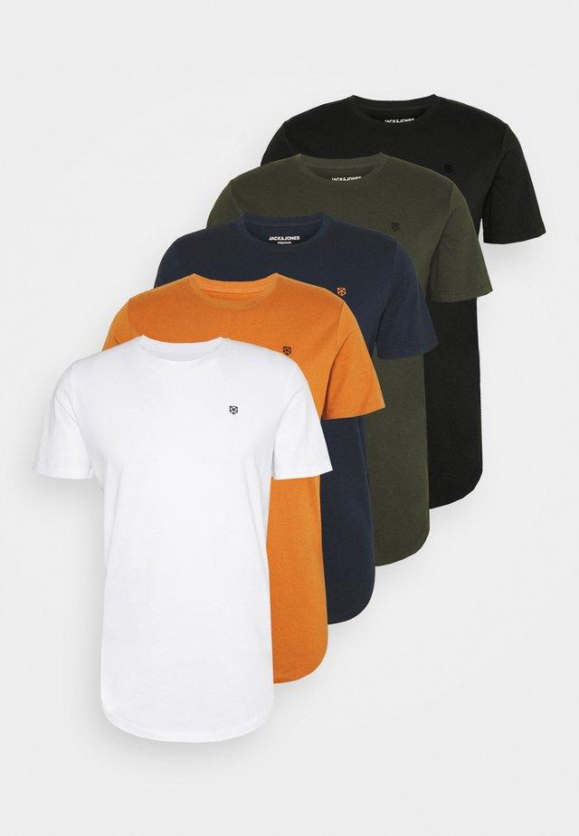 JPRBRODY TEE CREW NECK 5 PACK - T-shirt - bas - multi