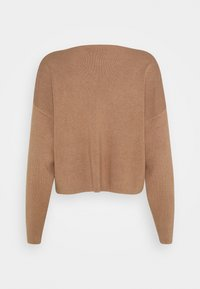 Zign - SET KNIT V-NECK AND PANT  - Svetr - camel - 3