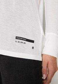 G-Star - GYRE UTILITY V-NECK LONG SLEEVE T-SHIRT - Long sleeved top - milk - 5