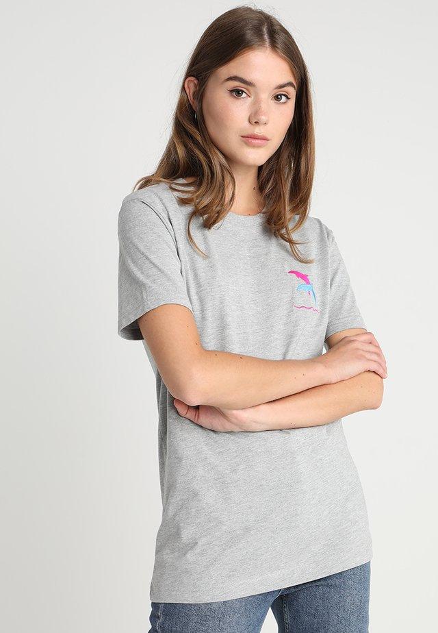 DOLPHIN TEE - T-shirt imprimé - grey heather