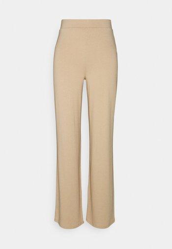 SOFT STRAIGHT PANTS - Kalhoty - beige