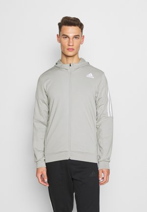 AEROREADY WARMING PRIMEGREEN HOODED - Mikina na zip - metal grey