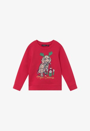 KIDS CHRISTMAS DOG  - Sweater - hochrot