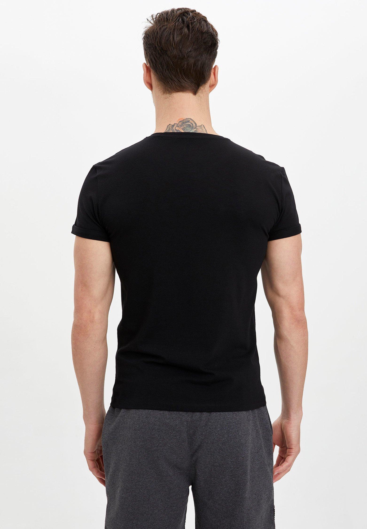 DeFacto Basic T-shirt - black 8Awjh