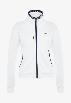 TENNIS JACKET - Sportovní bunda - white/navy blue