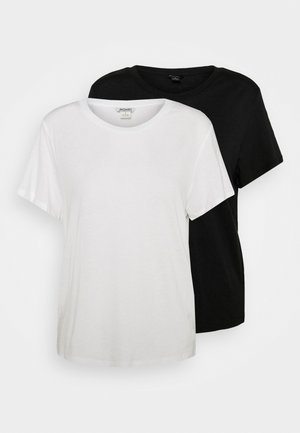 SIMBA TEE 2 PACK - T-shirts med print - white light solid/black solid