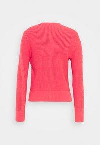 Marks & Spencer London - CUTE CABLE CARDI - Strikjakke /Cardigans - pink - 1