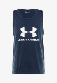 Under Armour - SPORTSTYLE LOGO TANK - Sports shirt - academy/white - 4