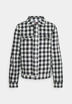 OVERTIME GINGHAM JACKET UNISEX - Denim jacket - black/white