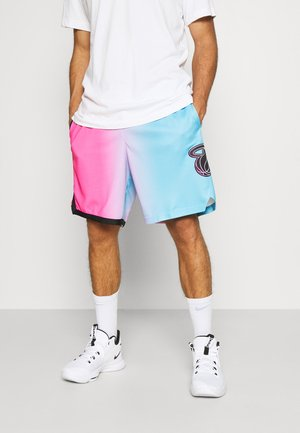 NBA MIAMI HEAT CITY EDITION SWINGMAN - kurze Sporthose - laser fuchsia/blue gale/black