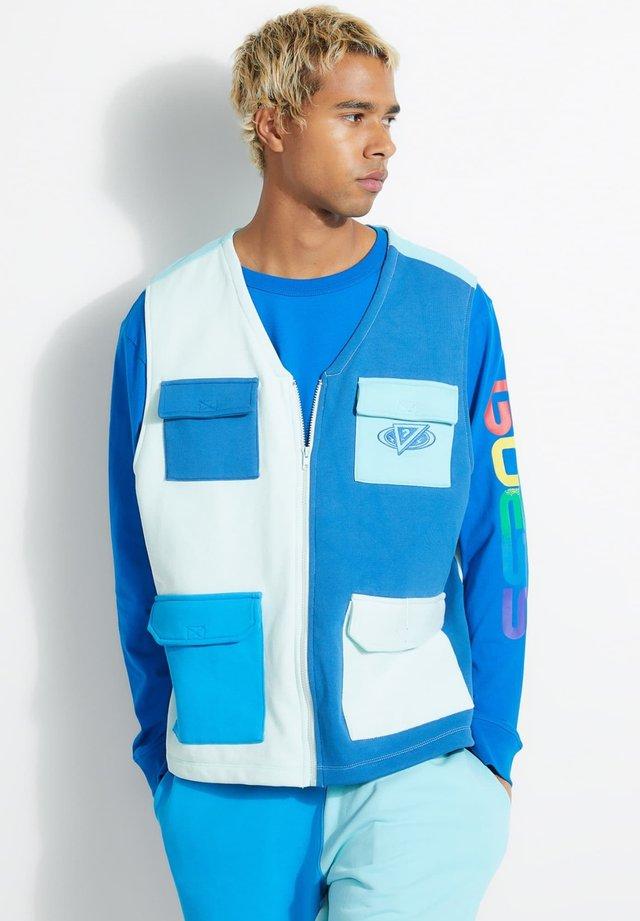 WESTE J BALVIN COLOR BLOCK - Waistcoat - mehrfarbig, grundton blau