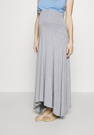 SKIRT BRAZIL - Maxi skirt - grey melange