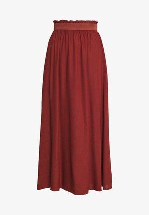 ONLVENEDIG PAPERBAG LONGSKIRT  - Maxi skirt - henna