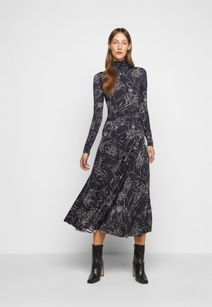 PRINTED PLEATED DRESS - Jersey dress - midnight blue