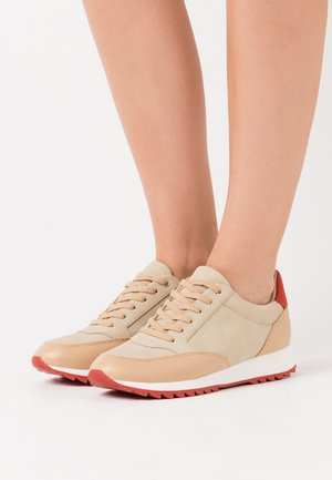 Sneakersy niskie - beige/red