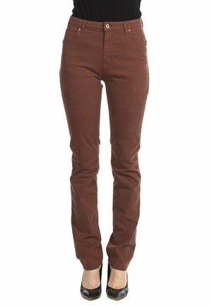 Jeans slim fit - marrone
