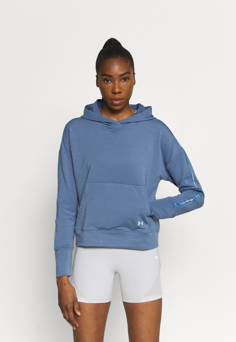 Under Armour - RIVAL TAPED HOODIE - Hoodie - mineral blue