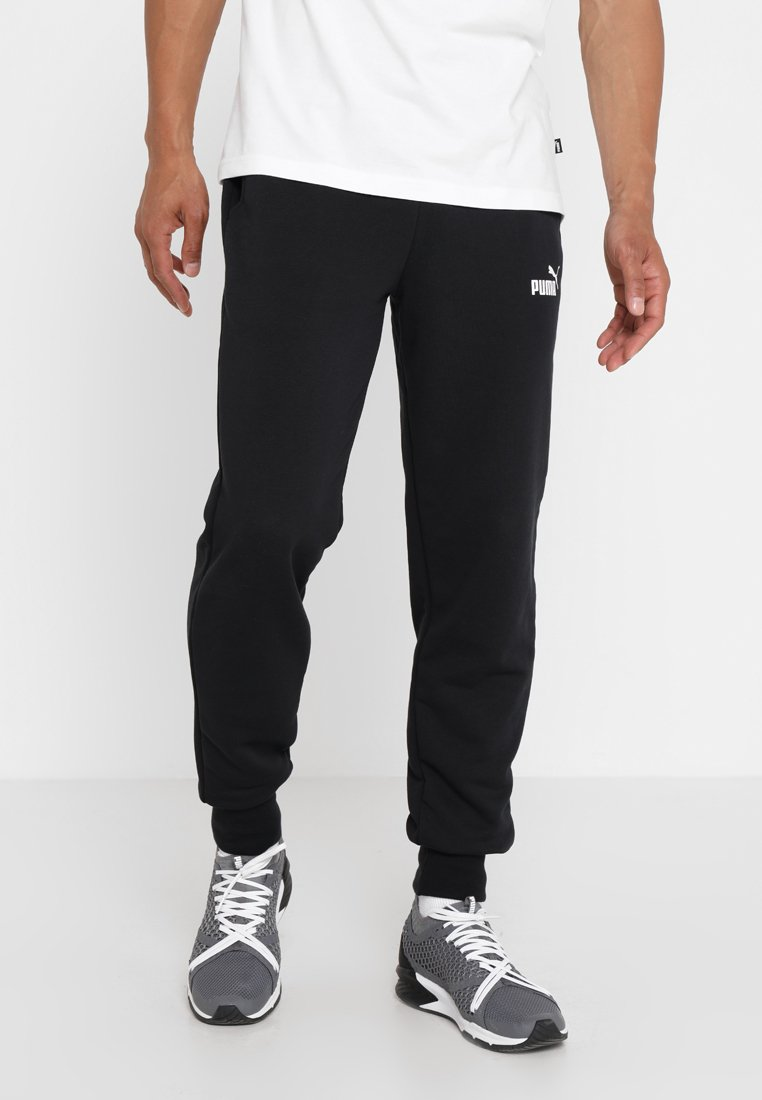 Puma - ESS LOGO PANTS - Pantalon de survêtement - black