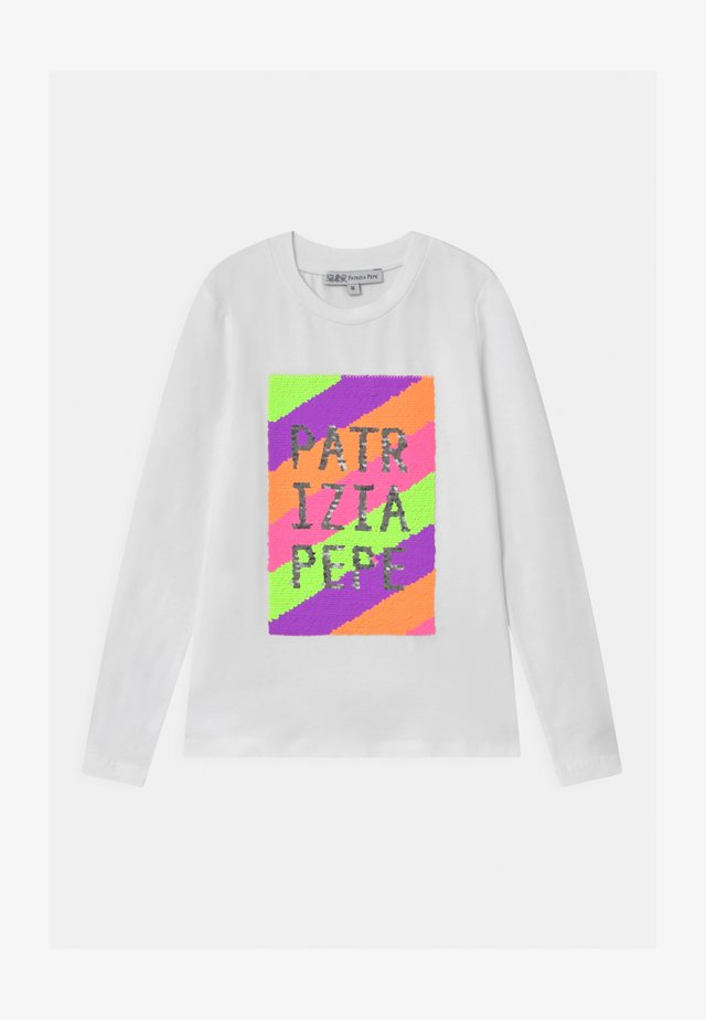 LOGO  - Long sleeved top - bianco