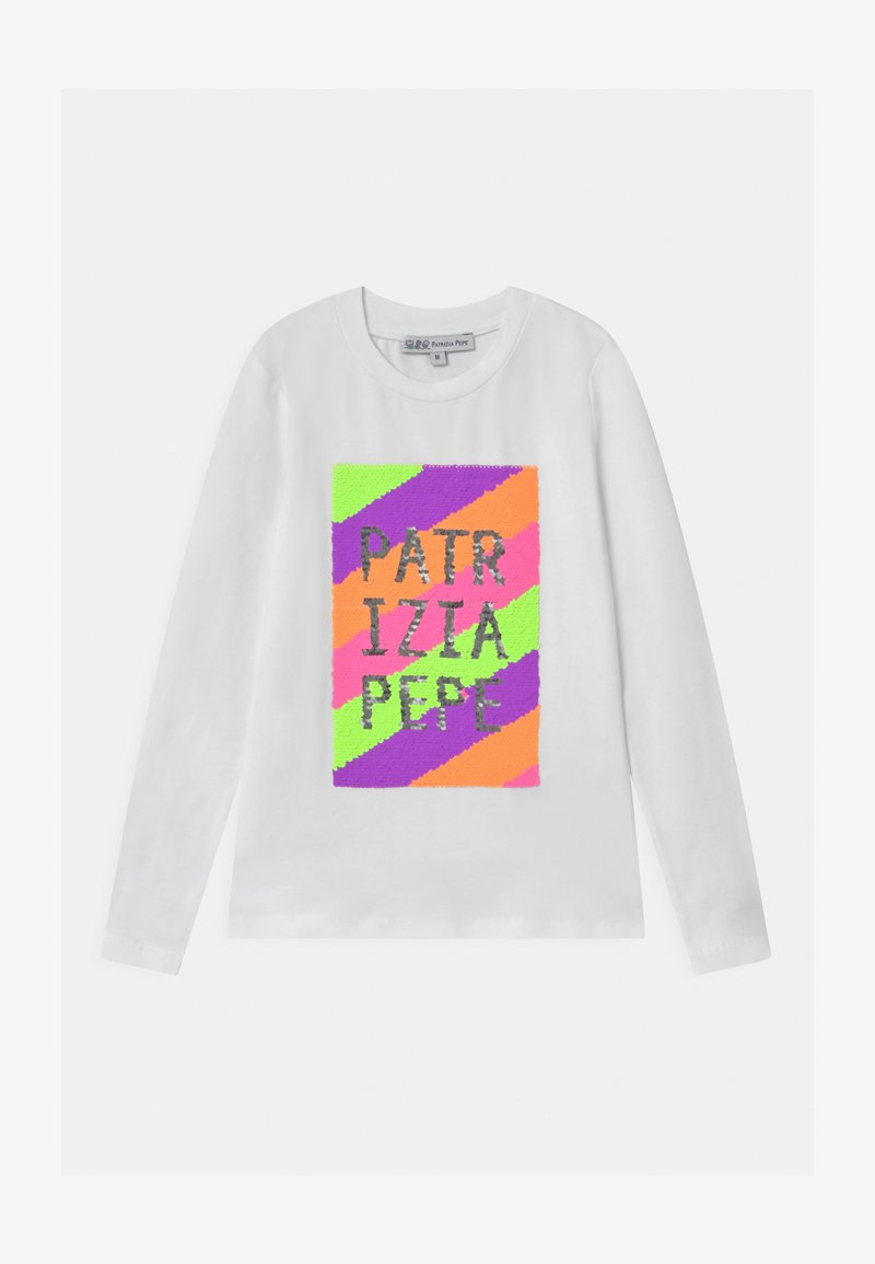 Patrizia Pepe - LOGO  - Long sleeved top - bianco