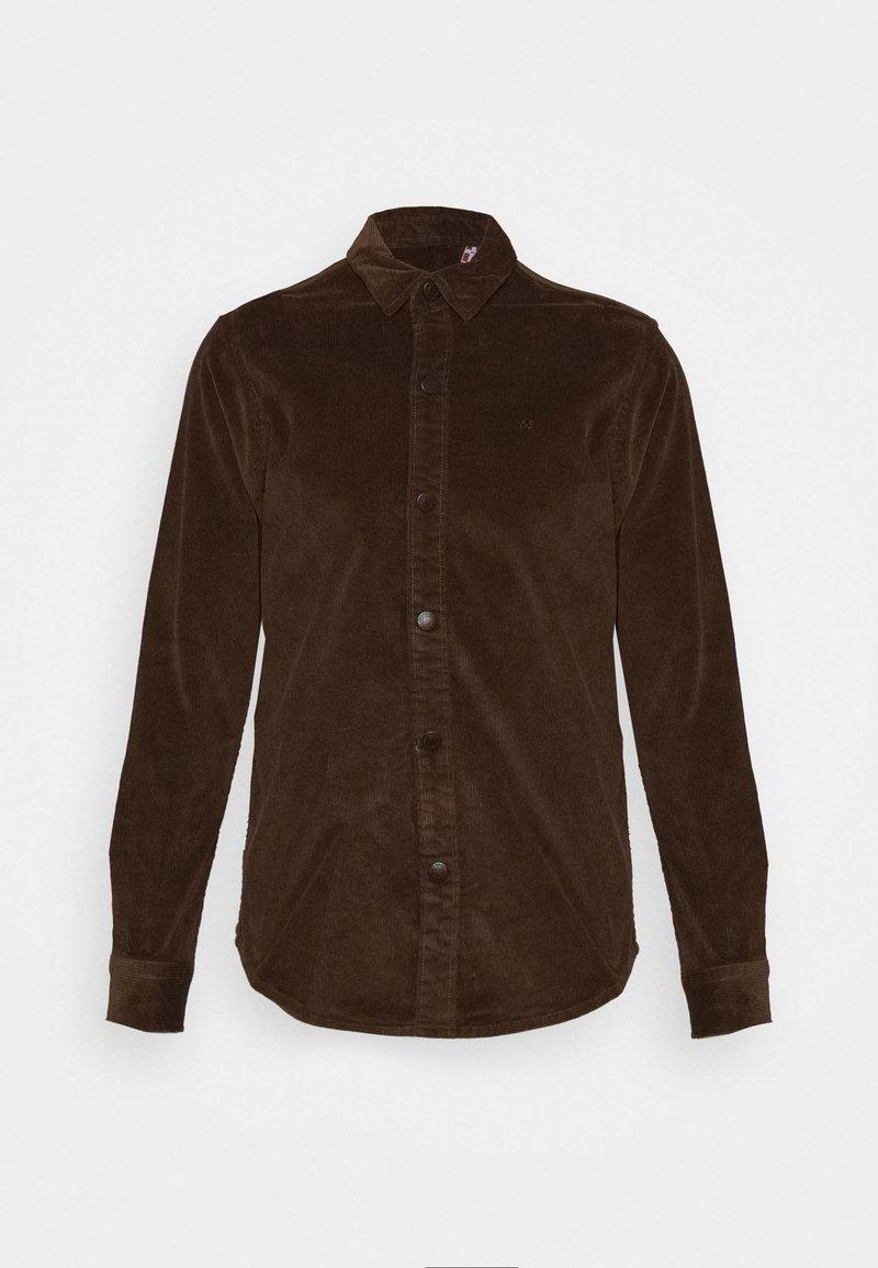 Kronstadt - JOHN OVERSHIRT - Shirt - dusty brown
