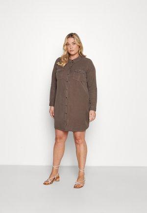 VMSILLA SHORT DRESS MIX - Shirt dress - khaki
