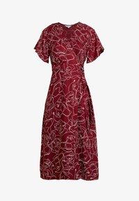 Great Plains London - CELESTE SKETCH - Denní šaty - cabernet milk - 5