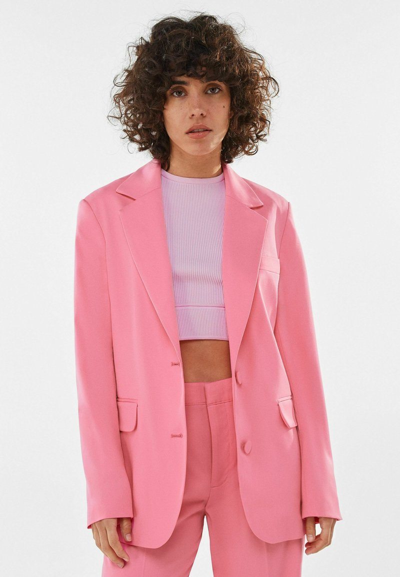 Bershka - Manteau court - pink