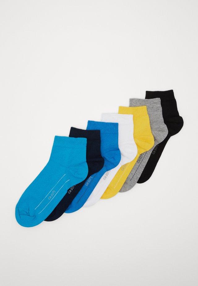 ONLINE SOFT QUARTER UNISEX 7 PACK - Socks - turquoise