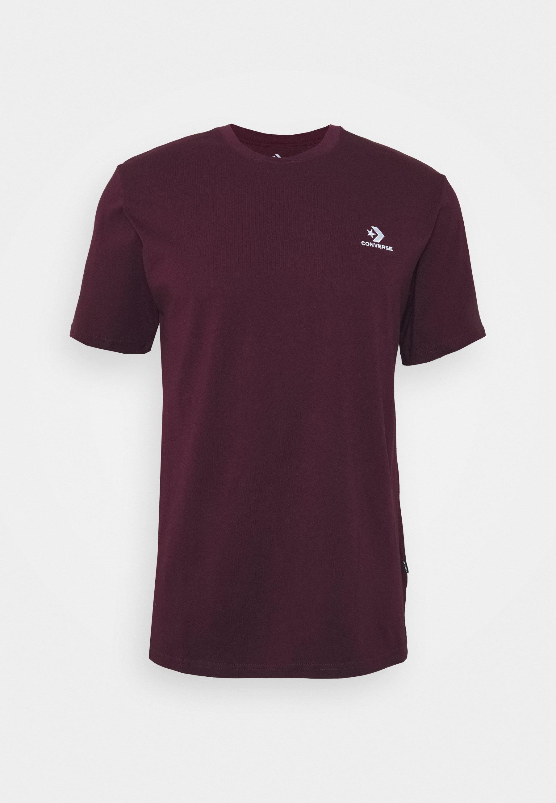 Men EMBROIDERED STAR LEFT CHEST TEE - Basic T-shirt