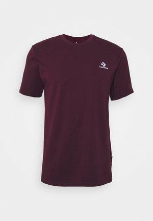 MENS STAR TEE - Basic T-shirt - dark burgundy