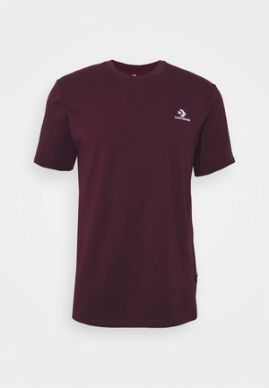 MENS EMBROIDERED STAR CHEVRON LEFT CHEST TEE - T-shirt basic - dark burgundy