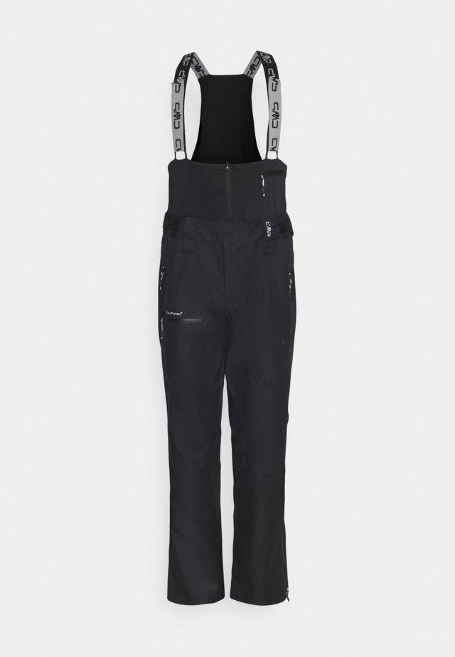 MAN SALOPETTE - Pantalon de ski - nero