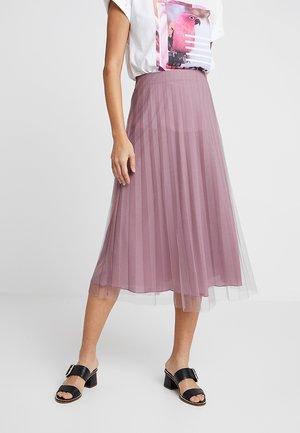 A-line skirt - mauve shadows