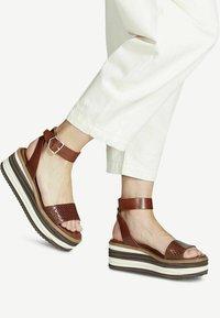 Tamaris - Platform sandals - cafe - 0